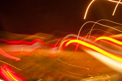 helles Neonchaos nachts Lizenzfreie Stockbilder