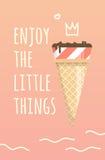 Helles Plakat mit Eiscreme lizenzfreie abbildung
