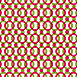 Helles punktiertes nahtloses Muster mit den roten und grünen Kreisen, Farbe Lizenzfreie Stockbilder