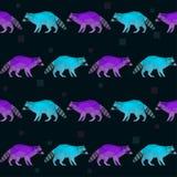 Helles Purpurrotes und Blau des abstrakten polygonalen geometrischen Dreiecks färbten nahtlosen Musterhintergrund des Waschbären vektor abbildung