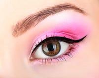 Helles rosa Make-up Lizenzfreie Stockfotografie
