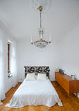Helles Schlafzimmer Stockfotografie