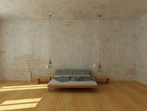 Helles Schlafzimmer in der modernen skandinavischen Art lizenzfreie stockfotografie