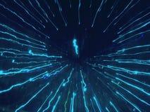 Helles Spiel: Blauer Cyberblitz Lizenzfreie Stockbilder