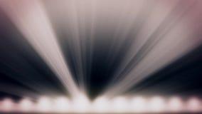 Helles Stadiumslichtblitzen Freies Stadium mit Lichtern Stadiumsbeleuchtungshintergrund Konzertlicht Stadiums-Scheinwerferesprit vektor abbildung