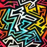 Helles städtisches geometrisches nahtloses Muster Stockbild