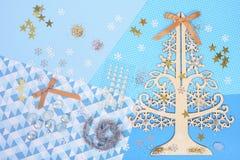 Helles und glänzendes Zubehör, zum der Weihnachtskarte zu machen Lizenzfreie Stockfotos