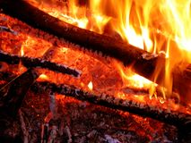 Helles und heißes Feuer Stockfoto