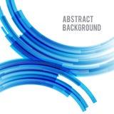Helles und helles Kurvenblau 006 des abstrakten Hintergrundes Lizenzfreie Stockbilder