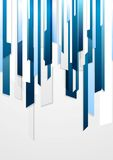 Helles Unternehmensblau gestreiftes Design Stockfoto