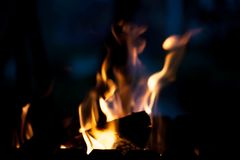 Helles warmes Feuer Das Konzept der Natur Stockbild