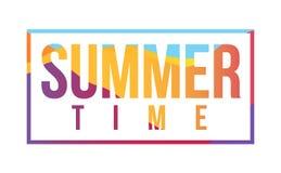 Helles Zeichen der Sommerzeit Farb Stockfotos