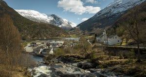 Hellesylt village in Norway. Hellesylt village in western Norway Royalty Free Stock Images