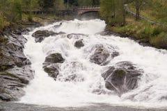Hellesyltwaterval, Noorwegen Stock Afbeeldingen