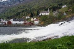 Hellesyltwaterval, Noorwegen Stock Afbeelding