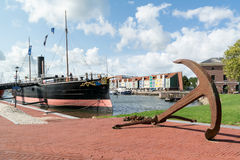 Hellevoetsluis harbour, Netherlands Royalty Free Stock Images