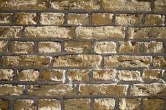 Hellfarbige Backsteinmauer Lizenzfreies Stockfoto