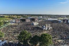 从Hellfest 2017金属节日的美好的风景 免版税图库摄影