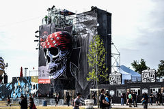 Hellfest open air skull Stock Image