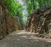 Hellfire Pass in Kanchanaburi, Thailand Royalty Free Stock Photo