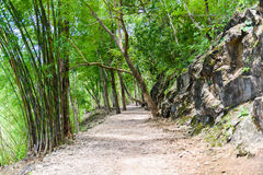 Hellfire pass, Kanchanaburi, Thailand. Hellfire pass, Death Railway - The Second World War memorial in Kanchanaburi, Thailand Royalty Free Stock Image