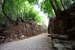 Hellfire Pass at Kanchanaburi, Thailand Royalty Free Stock Photography