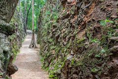 Hellfire Pass at Kanchanaburi, Thailand. Royalty Free Stock Image