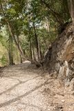 Hellfire Pass on the notorious Burma to Thailand death railway, where thousands of Allied POWs died during World War 2. Hellfire Pass on the notorious Burma to Royalty Free Stock Photo