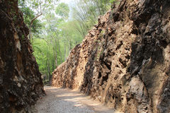 Hellfire Pass, railway cutting by prisoner of war Kanchanaburi,. Way of Hellfire Pass, railway cutting by prisoner of war Kanchanaburi, Thailand stock photos