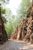 Hellfire Pass, railway cutting by prisoner of war Kanchanaburi, Stock Photo