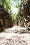 Hellfire pass. Railway in wold war 2 Kanchanaburi Thailand Stock Images