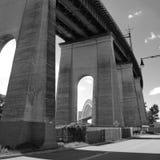 Hellgate铁路桥梁NYC 免版税图库摄影