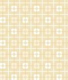 Hellgelbes, ockerhaltiges, geometrisches, nahtloses Muster, Quadrate, Hintergrund Stockfotos