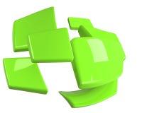 Hellgrüne getrennte Vierecke stock abbildung