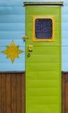 Hellgrüne Tür Lizenzfreies Stockfoto