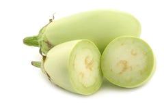 Hellgrüne Zucchini (Cucurbita pepo) stockfotos