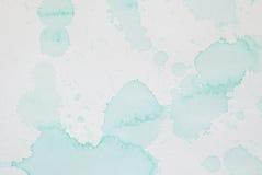 Hellgrüner Aquarell Splatter Lizenzfreies Stockfoto