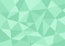 Hellgrüner Pastellfarbpolygonhintergrund Lizenzfreies Stockfoto
