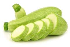 Hellgrüner türkischer Zucchini stockbilder