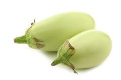 Hellgrüner Zucchini (Cucurbita pepo) stockfoto