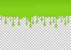Hellgrünes tropfendes nahtloses Element des Schlamms stock abbildung