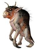 Hellhound de la criatura de la fantasía Foto de archivo libre de regalías