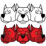 Hellhound Hoofd Vector grafisch Royalty-vrije Stock Afbeelding