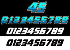 Racing number hell stock illustration