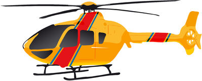 Hellicopter. Vectors illustration shows a yellow helicopter vector illustration