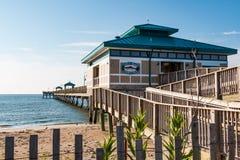 Helling die tot James T leiden Wilson Fishing Pier stock fotografie