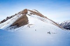 Helling op de het skiån toevlucht Stock Fotografie