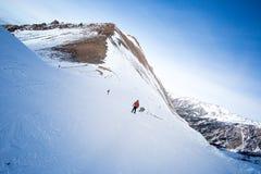 Helling op de het skiån toevlucht Royalty-vrije Stock Fotografie