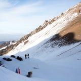 Helling op de het skiån toevlucht Stock Afbeelding