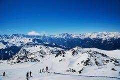 Hellingen van het ski?en toevlucht Royalty-vrije Stock Foto's